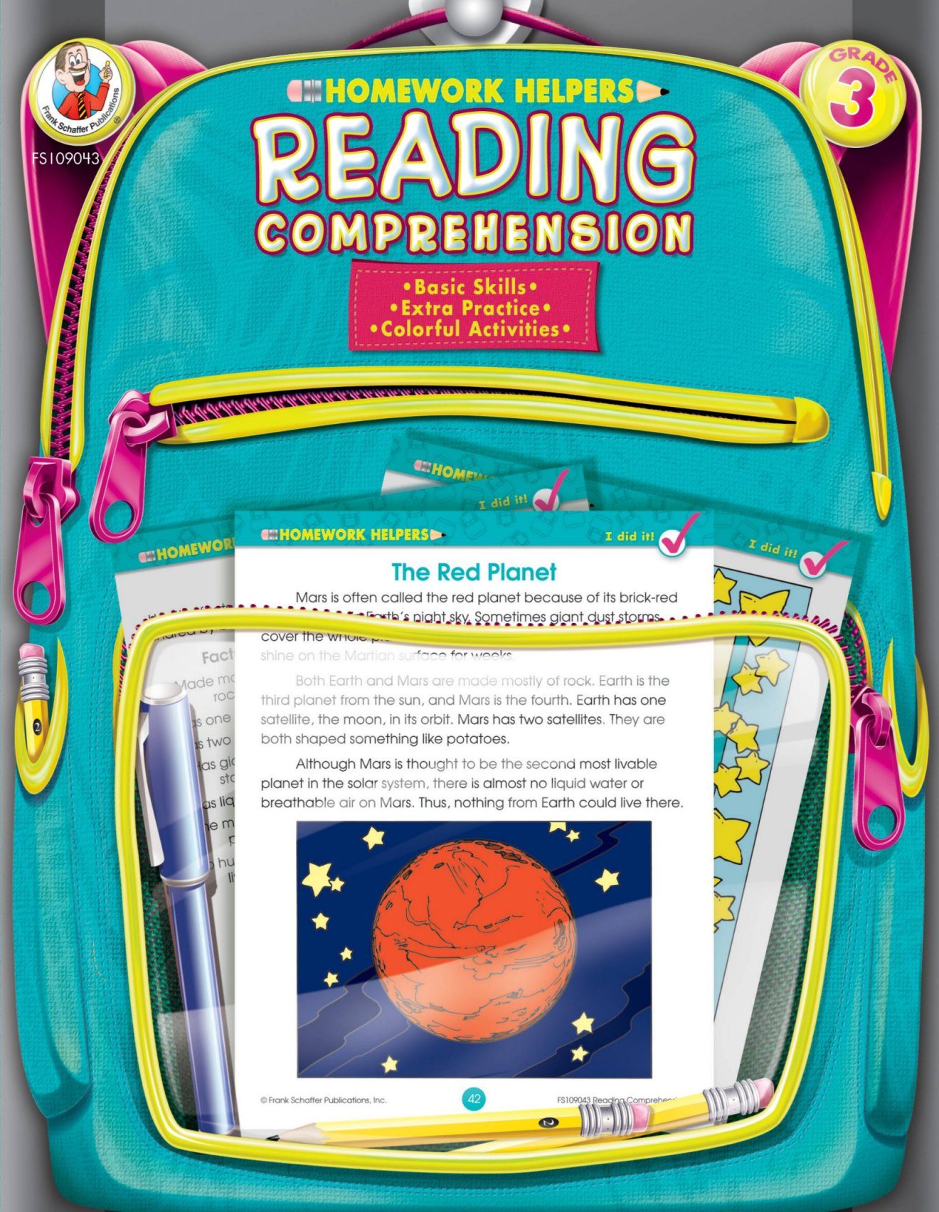 Homework Helper Reading Comprehension, Grade 3 By Schaffer, Frank